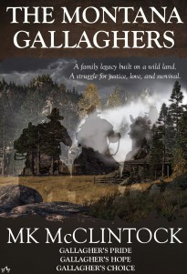 #amreading Montana Gallagher collection. GALLAGHER'S PRIDE GALLAGHER'S HOPE GALLAGHER'S CHOICE By MK McClintock